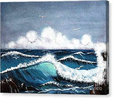 Storm At Sea Canvas Print by Barbara Griffin