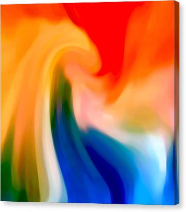 Abstract Seascape Canvas Print - Storm At Sea Square 1 by Amy Vangsgard