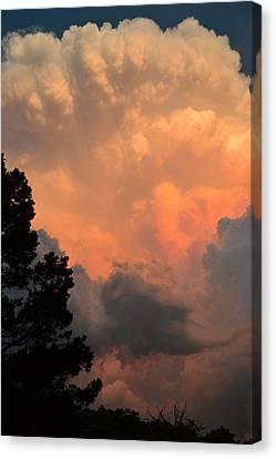 Storm At Sundown Canvas Print