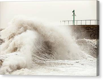 Flooding Canvas Print - Storm At Workington by Ashley Cooper