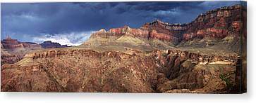 Storm Brewing In The Canyon Canvas Print by Charles Ables
