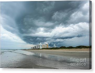 Fort Pierce Canvas Print - Storm Brewing by Liesl Marelli