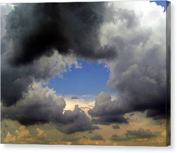 Storm Brewing Canvas Print by Tamyra Crossley