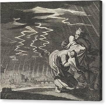 Storm, Caspar Luyken, Jan Luyken, Christoph Weigel Canvas Print