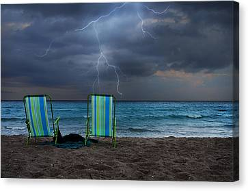 Storm Chairs Canvas Print