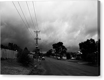 Canvas Print featuring the photograph Storm Closing In  by Naomi Burgess