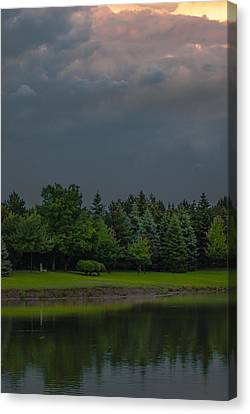 Storm Clouds And Trees Canvas Print
