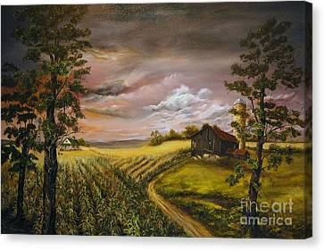 Storm  Clouds Canvas Print by Anna-Maria Dickinson