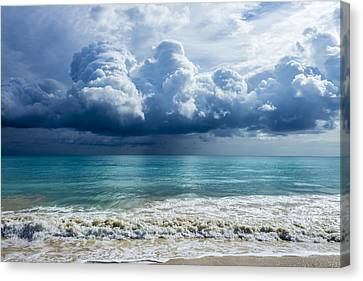 Storm Clouds At Waimanalo Canvas Print