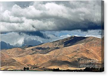Storm Clouds Floating Above Mountains Canvas Print
