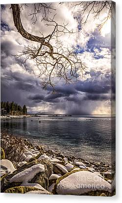Storm Clouds From Cave Rock Canvas Print