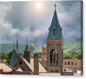 Storm Clouds In Charleston Wv Canvas Print by Mary Almond