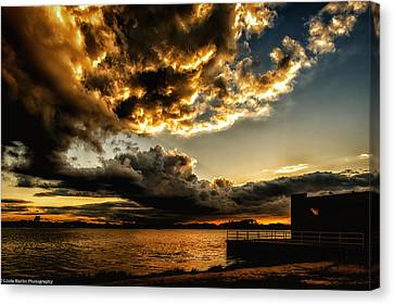 Canvas Print featuring the photograph Storm Clouds by Linda Karlin