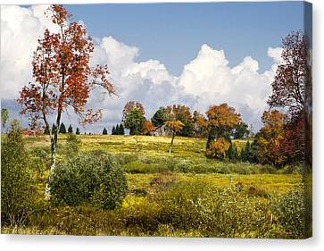 Canvas Print featuring the photograph Storm Clouds Over Country Landscape by Christina Rollo