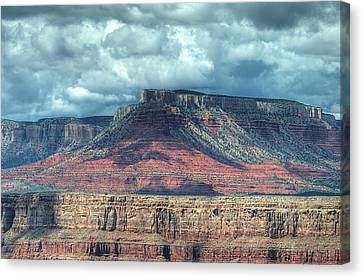Storm Clouds Over Grand Canyon Canvas Print by Donna Doherty