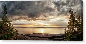 Storm Clouds Over Lake Superior Canvas Print