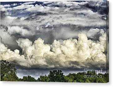 Storm Clouds Over Mountain Canvas Print by Thomas R Fletcher