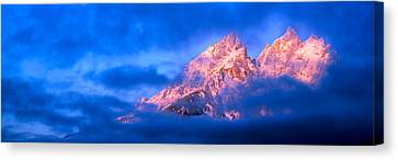 Storm Clouds Over Mountains, Cathedral Canvas Print by Panoramic Images