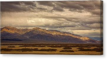 Storm Clouds Over Snowy Peaks #2 Canvas Print by Stuart Litoff