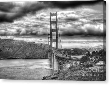 Storm Clouds Over The Golden Gate Bridge Canvas Print