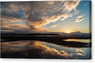 Storm Clouds Reflected Canvas Print