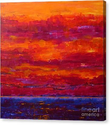 Storm Clouds Sunset Canvas Print