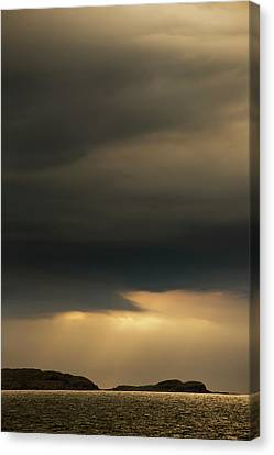 Storm Clouds With Some Illumination Canvas Print