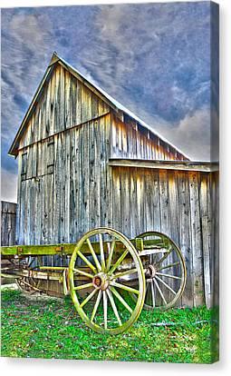 Barn Storm Canvas Print - Storm Coming by Anita Hubbard