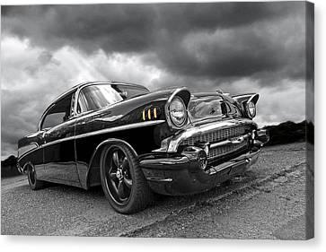 Storm Cruiser - 57 Chevy Canvas Print by Gill Billington