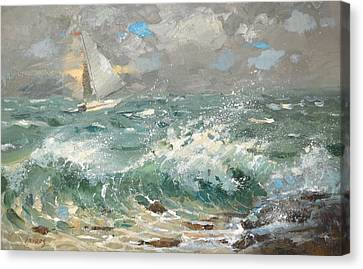 Canvas Print featuring the painting Storm by Dmitry Spiros