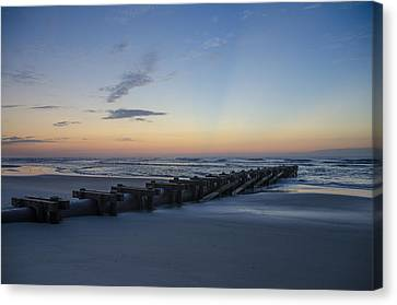 Storm Drain - North Wildwood Canvas Print by Bill Cannon