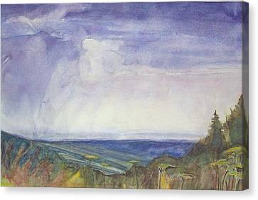 Storm Heaves - Hog Hill Canvas Print by Grace Keown
