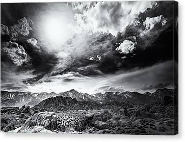 Storm In The Alabama Hills Canvas Print