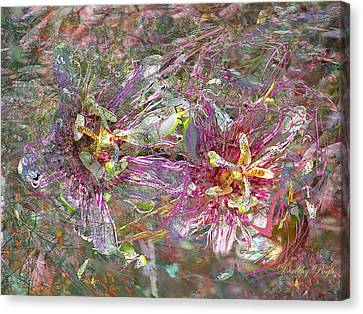 Storm In The Garden Canvas Print by Dorothy  Pugh