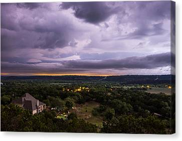 Canvas Print featuring the photograph Storm In The Valley by Darryl Dalton