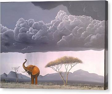 Storm In The Wild Canvas Print by Hilton Mwakima