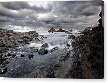 Storm Is Coming To Island Of Menorca From North Coast And Mediterranean Seems Ready To Show Power Canvas Print by Pedro Cardona