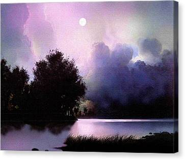 Storm Lake Canvas Print by Robert Foster