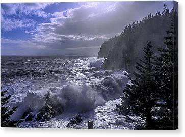 Canvas Print featuring the photograph Storm Lifting At Gulliver's Hole by Marty Saccone