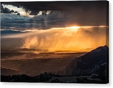 Sun Rays Canvas Print - Storm Light by Leland D Howard
