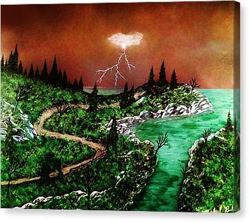 Canvas Print featuring the painting Storm by Michael Rucker