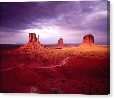 Storm Monument Valley Ut  Az Usa Canvas Print