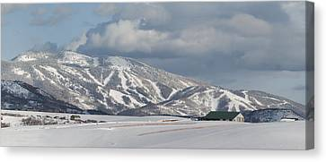 Storm Mountain Nw Face Canvas Print by Daniel Hebard