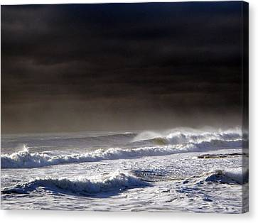 Storm Moving Out To Sea Canvas Print by Anastasia Pleasant