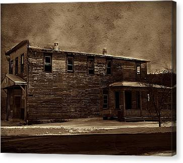 Canvas Print featuring the photograph Storm Of 1888 by David Dehner