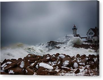 Storm Off Eastern Point Lighthouse Canvas Print