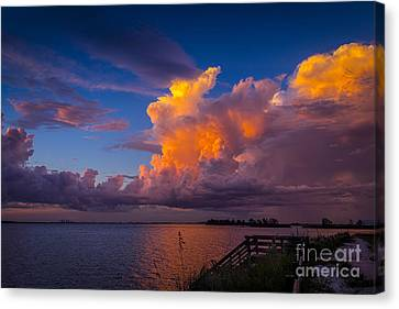 Storm Canvas Print - Storm On Tampa by Marvin Spates
