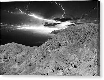 Storm On The Mountain Canvas Print by Athala Carole Bruckner