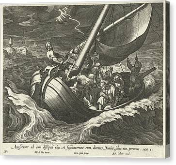 Storm On The Sea Of Galilee, Cornelis Galle Canvas Print by Cornelis Galle (i) And Adriaen Collaert
