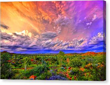 Storm On The Telegraph Canvas Print by Paul Svensen